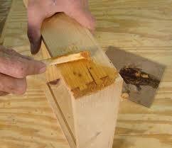 how to make wood filler repair gaps woodworking tips