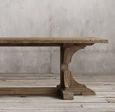 rectangular pine dining table c reclaimed pine trestle rectangular dining table
