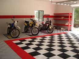 Garage Interior Design Black And White Checkerboard Garage Flooring Flooring Designs