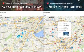 Jersey Shore Map Weather And Snow Plow Needs Mapped By The Public U2013 Gis Use In