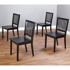 Black Dining Chairs Dining Wood Chair Set Of 4 Black Kitchen Dinette Room Solid Seat