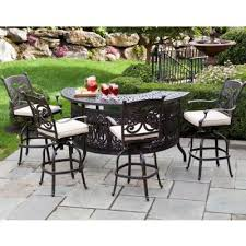 Outdoor Bar Patio Furniture - farfalla cast aluminum patio bar high party set 5 piece al 22 1107