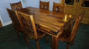 Jali Dining Table And Chairs Indian Sheesham Mumbai Jali Dining Table And 6 Chairs In Halifax