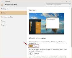 personnalisation du bureau windows 10 modifier l arrière plan et les couleurs du bureau