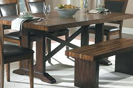 dining room sets with benches picnic bench style dining room table fancy picnic table style