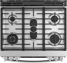 Gas Stainless Steel Cooktop Ge Pgs930selss 30 Inch Slide In Gas Range With True Convection