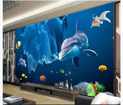 compare prices on dolphin wall murals online shopping buy low 2017 latest fashion 3d wallpaper custom mural non woven 3 d dolphins and sea world