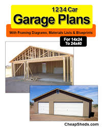 Four Car Garage Plans 2 3 Car Garage Plans Blueprints 19 95
