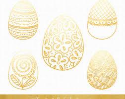 gold easter egg golden easter egg etsy