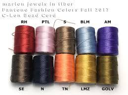 marion jewels fiber 2017 pantone colors