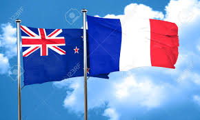 Nee Zealand Flag New Zealand Flag With France Flag 3d Rendering Stock Photo