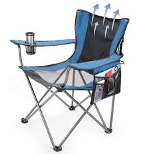 Lawn Chair Pictures by The Fan Cooled Portable Lawn Chair Hammacher Schlemmer