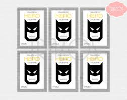 batman valentines card printable valentines personalized