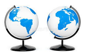 two earth desk globe stock images image 34821244
