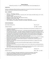 Resume For 1 Year Experienced Software Engineer Sample Experienced Resume Software Engineer Resume Months