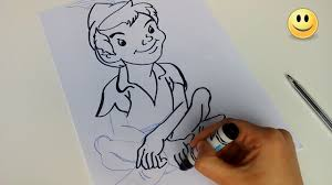 how to draw peter pan quick and easy disney cartoon characters