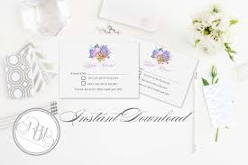 Wedding Invitation Reply Cards Wedding Rsvp Reply Card Template Instant Download Diy Editable