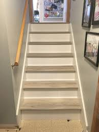 vinyl plank stairs home design