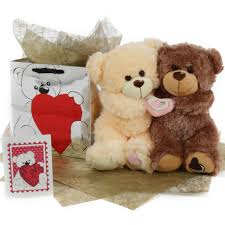 be mine teddy be mine hug care package featuring 18in tiny honey pie baby