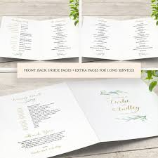 booklet wedding programs diy wedding program booklet order of service template connie joan