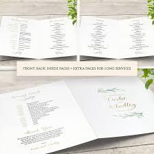 wedding program booklet diy wedding program booklet order of service template connie joan