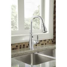 moen brantford kitchen faucet moen 7185esrs brantford spot resist stainless pullout spray