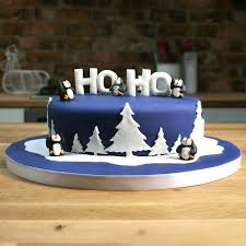 Christmas Cake Decoration Ideas Uk Sugar Penguins Winter Cake Decorations The Cake Decorating Store
