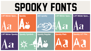 spooky symbols spooky fonts spooky font