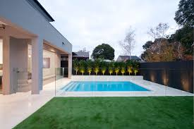 Backyard Pool Fence Ideas Recessed Concrete Frameless Glass Pool Fence Stunning Pool