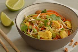 Chinese Root Vegetables - pad thai made with root vegetables and courgette berries u0026 lime