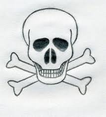 how to draw a skull and crossbones cartoon cartoon simplepict com
