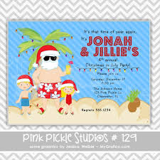 christmas on the beach personalized party invitation personalized