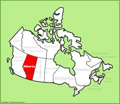 Map Of Canada Provinces Alberta Location On The Canada Map