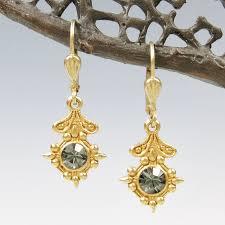 earrings world catherine popesco world small drop earrings in black diamond