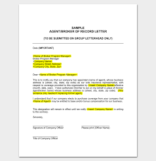 agent appointment letter 16 samples formats examples dotxes
