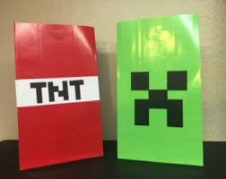 minecraft goody bags minecraft goodie bag etsy