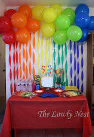 birthday decorations best 25 rainbow birthday decorations ideas on rainbow