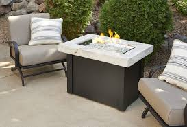 napa valley crystal fire pit table outdoor greatroom company providence fire pit table with white onyx