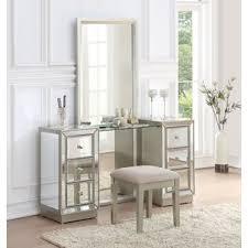mirror bedroom u0026 makeup vanities you u0027ll love wayfair