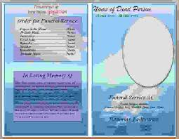 Free Funeral Programs 9 Free Funeral Program Template Microsoft Wordagenda Template
