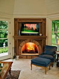 Inside Fireplace Decor Modern Nice Design Of The Fireplace With Tv Decor Ideas Can Be