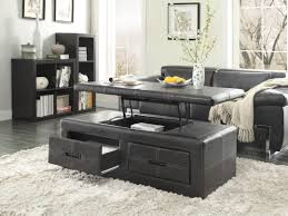 black side table with shelf furniture modern lift top coffee table with storage colours black