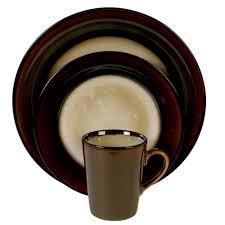 gibson home 16 dinnerware set stripe walmart