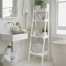 Ladder Bookcase White by Bathroom Wood Leaning Ladder Shelf For Bathroom Bathroom Ladder