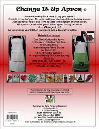 Customizing Kitchen Aprons Change It Up Apron Pattern I 4 Inch Publishing