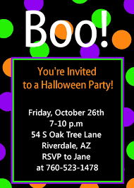 halloween birthday party invitations free printable