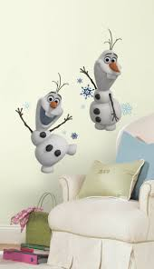 frozen kids bedroom and decor it s baby time olaf wall decals