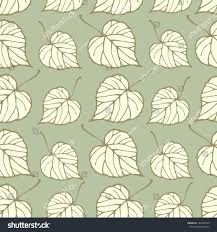 Wallpaper Home Decor Vector Seamless Pattern Linden Leaves Endless Stock Vector