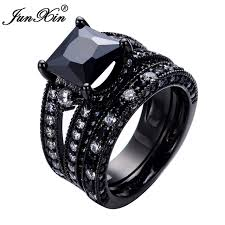 aliexpress buy junxin new arrival black aliexpress buy junxin new fashion black zircon ring sets