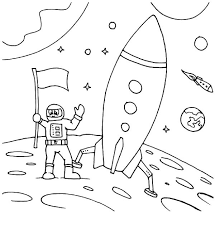 astronaut coloring pages rocket ship coloringstar